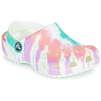 Chaussures Fille Sabots Crocs CLASSIC TIE DYE GRAPHIC CLOG K Blanc / Rose