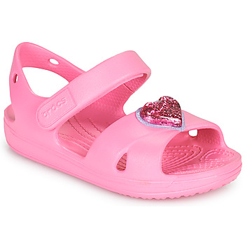 Chaussures Fille Sandales et Nu-pieds Crocs CLASSICCROSSSTRAPCHARMSANDAL T Rose