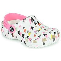 Chaussures Fille Sabots Crocs CLASSIC HEART PRINT CLOG K Blanc / Coeur