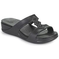 Chaussures Femme Mules Crocs CROCSMONTEREYSHIMMERSLPONWDG W Noir