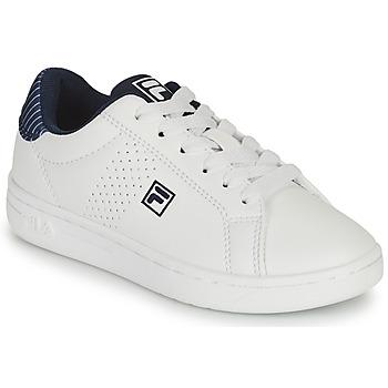 Chaussures Garçon Baskets basses Fila CROSSCOURT 2 NT KIDS Blanc / Bleu