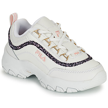 Chaussures Fille Baskets basses Fila STRADA A LOW JR Blanc / Beige
