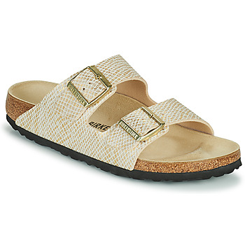 Chaussures Femme Mules Birkenstock ARIZONA Doré / Blanc