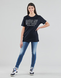 Vêtements Femme Jeans skinny Replay HYPERFLEX LUZ Bleu Moyen
