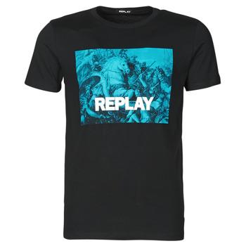 Vêtements Homme T-shirts manches courtes Replay M3412-2660 Noir/Bleu