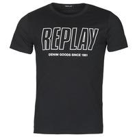 Vêtements Homme T-shirts manches courtes Replay  Noir