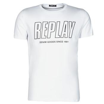 Vêtements Homme T-shirts manches courtes Replay M3395-2660 Blanc