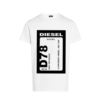 Vêtements Garçon T-shirts manches courtes Diesel TFULL78 Blanc