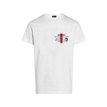 Vêtements Garçon T-shirts manches courtes Diesel TDIEGOS Blanc