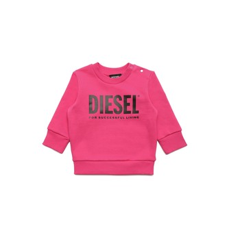 Vêtements Fille Sweats Diesel SCREWDIVISION LOGOB Rose