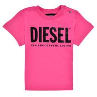 Vêtements Fille T-shirts manches courtes Diesel TJUSTLOGOB Rose