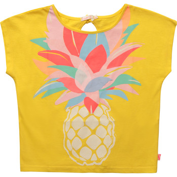 Vêtements Fille T-shirts manches courtes Billieblush U15873-548 Jaune