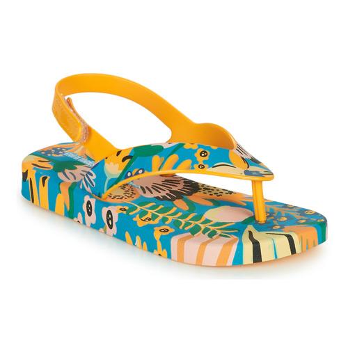 Chaussures Enfant Tongs Melissa MINI MELISSA & IPANEMA Jaune / Bleu