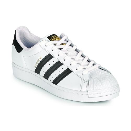 Chaussures Baskets basses adidas Originals SUPERSTAR Blanc / Noir