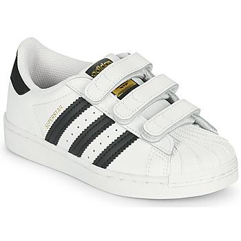 Chaussures Enfant Baskets basses adidas Originals SUPERSTAR CF C Blanc / Noir