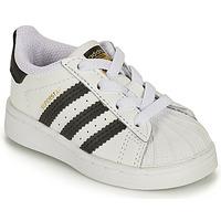 Chaussures Enfant Baskets basses adidas Originals SUPERSTAR EL I Blanc / Noir