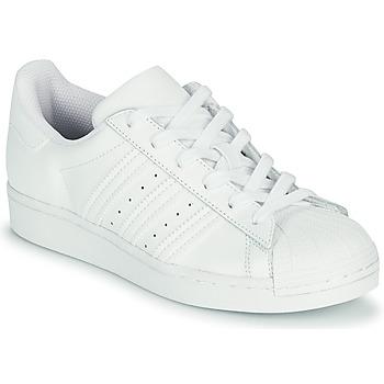 Chaussures Enfant Baskets basses adidas Originals SUPERSTAR J Blanc