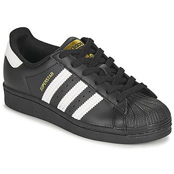 Chaussures Enfant Baskets basses adidas Originals SUPERSTAR J Noir / Blanc