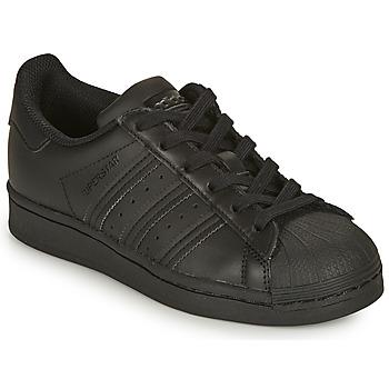 Chaussures Enfant Baskets basses adidas Originals SUPERSTAR J Noir