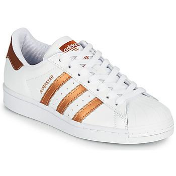 Chaussures Femme Baskets basses adidas Originals SUPERSTAR W Blanc / Bronze