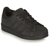 Chaussures Enfant Baskets basses adidas Originals SUPERSTAR C Noir