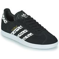 Chaussures Femme Baskets basses adidas Originals GAZELLE W Noir / Blanc