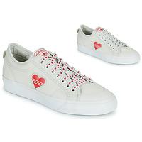 Chaussures Femme Baskets basses adidas Originals NIZZA  TREFOIL W Blanc / Rouge