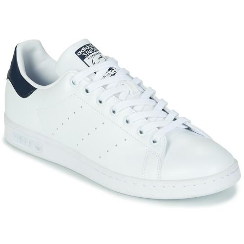 Chaussures Baskets basses adidas Originals STAN SMITH ECO-RESPONSABLE Blanc / Marine