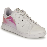 Chaussures Fille Baskets basses adidas Originals STAN SMITH C ECO-RESPONSABLE Blanc / Rose Iridescent