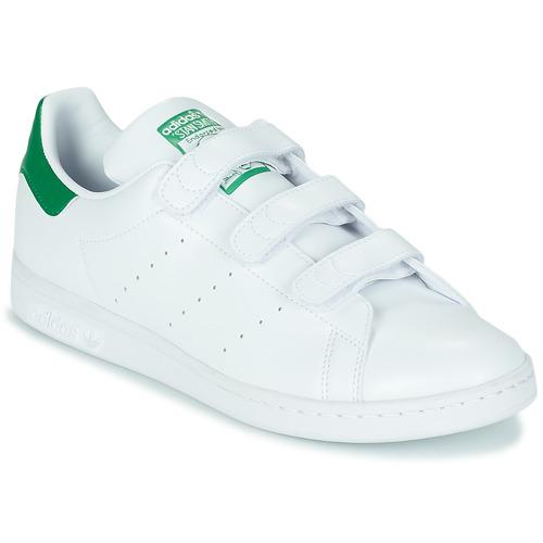 Chaussures Baskets basses adidas Originals STAN SMITH CF ECO-RESPONSABLE Blanc / vert