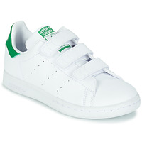 Chaussures Enfant Baskets basses adidas Originals STAN SMITH CF C ECO-RESPONSABLE Blanc / vert VEGAN