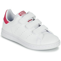 Chaussures Fille Baskets basses adidas Originals STAN SMITH CF C ECO-RESPONSABLE Blanc / Rose