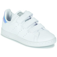 Chaussures Fille Baskets basses adidas Originals STAN SMITH CF C ECO-RESPONSABLE Blanc / Iridescent