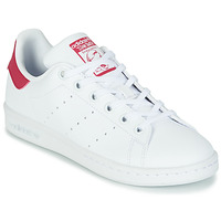Chaussures Fille Baskets basses adidas Originals STAN SMITH J ECO-RESPONSABLE Blanc / Rose
