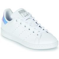 Chaussures Fille Baskets basses adidas Originals STAN SMITH J ECO-RESPONSABLE Blanc / Iridescent