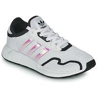 Chaussures Fille Baskets basses adidas Originals SWIFT RUN X J Blanc / Iridescent