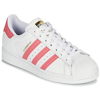 Chaussures Femme Baskets basses adidas Originals SUPERSTAR W Blanc / Rose