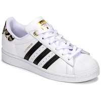 Chaussures Femme Baskets basses adidas Originals SUPERSTAR W Blanc / Léopard