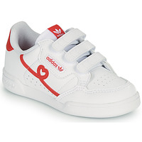 Chaussures Fille Baskets basses adidas Originals CONTINENTAL 80 CF I Blanc / Rouge