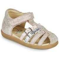 Chaussures Fille Sandales et Nu-pieds Shoo Pom PIKA SPART Beige / Argenté
