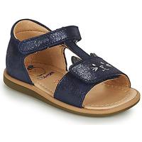 Chaussures Fille Sandales et Nu-pieds Shoo Pom TITY MIAOU Bleu