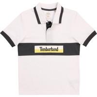 Vêtements Garçon Polos manches courtes Timberland DOTTO Blanc