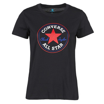 Vêtements Femme T-shirts manches courtes Converse CHUCK PATCH NOVA TEE Noir