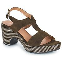 Chaussures Femme Sandales et Nu-pieds Adige ROMA V5 VELOURS MILITAR Kaki