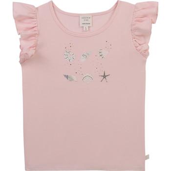 Vêtements Fille T-shirts manches courtes Carrément Beau Y15378-44L Rose