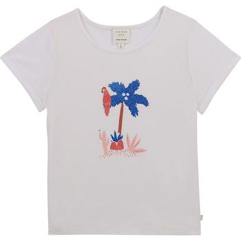 Vêtements Fille T-shirts manches courtes Carrément Beau Y15383-10B Blanc