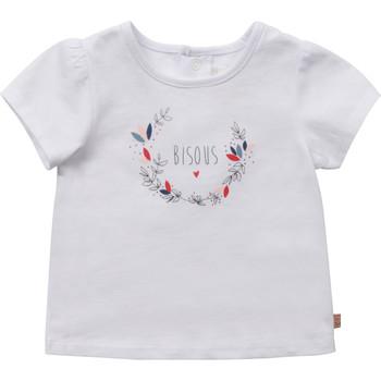 Vêtements Fille T-shirts manches courtes Carrément Beau Y95270-10B Blanc