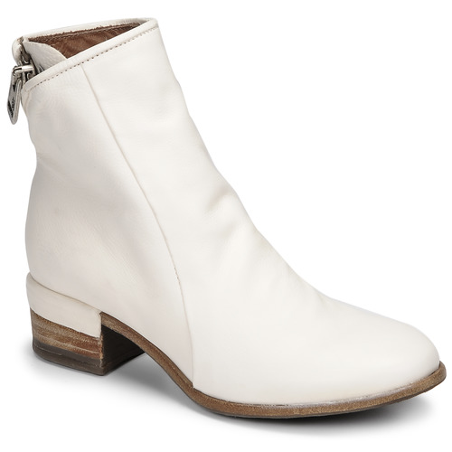 Chaussures Femme Bottines Airstep / A.S.98 GIVE ZIP Blanc