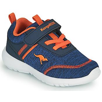 Chaussures Garçon Baskets basses Kangaroos KY-CHUMMY EV Bleu / Orange