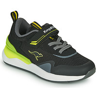 Chaussures Garçon Baskets basses Kangaroos KD-GYM EV Noir / Jaune
